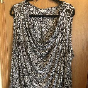 Animal print sleeveless blouse